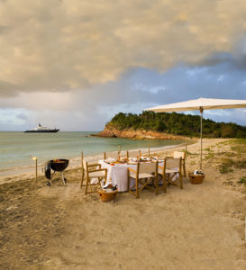 Windward Islands yacht charter beach BBQ