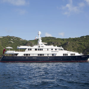 Broadwater yacht charter, 164-foot Feadship in St Barths