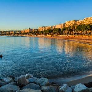 Cannes Bay part of your yacht charter South of France