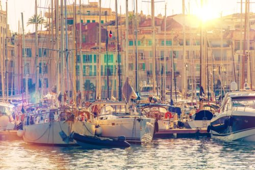 Cannes Port part of your yacht charter South of France
