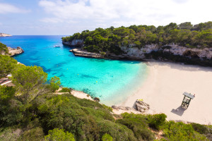 Luxury yacht charter Balearics, secluded bay in Mallorca