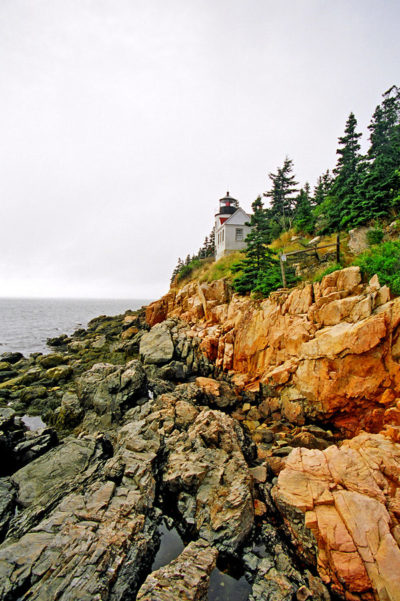 New England Yacht Charter Vacation. Rocky cliffs.