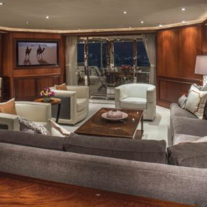 M/Y Antares yacht for sale. Salon.