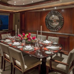 M/Y Antares yacht for sale. Dining set.