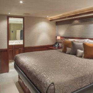 M/Y Antares yacht for sale, guest stateroom.