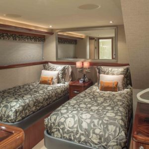 M/Y Antares yacht for sale, guest room.