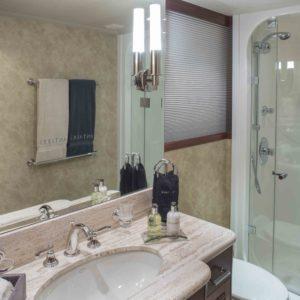 M/Y Antares yacht for sale, bathroom.