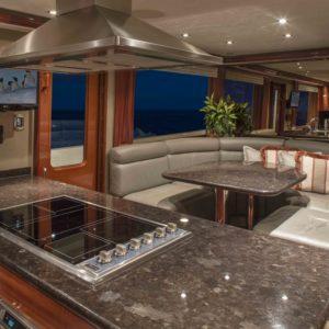 M/Y Antares yacht for sale, kitchen & salon