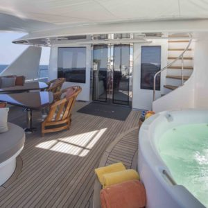 M/Y Antares yacht for sale, jacuzzi