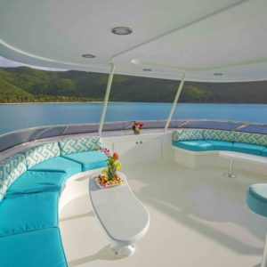 The Sundeck on Arioso a Wesport 130 in St Thomas