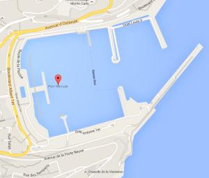 Monaco Yacht Show 2015 map