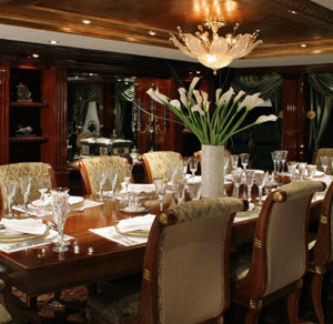 Ionian Princess yacht for sale dining formal