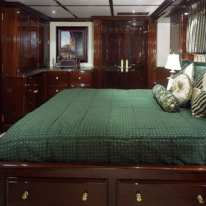 Ionian Princess yacht for sale, green stateroom
