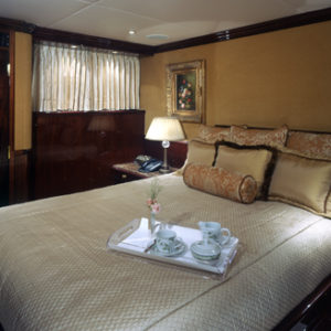 Ionian Princess yacht for sale, queen guestroom