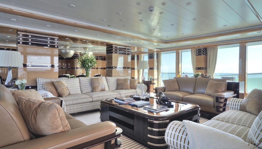 Mega yachts for sale like NATITA always have various palatial salons