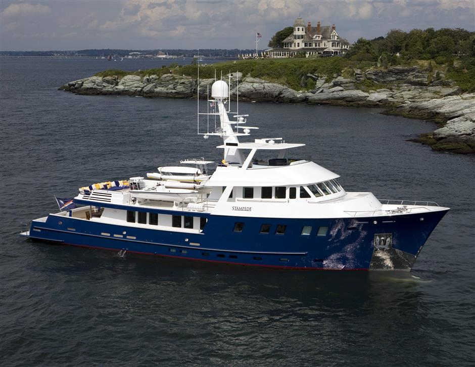 expedition yacht for sale STAMPEDE