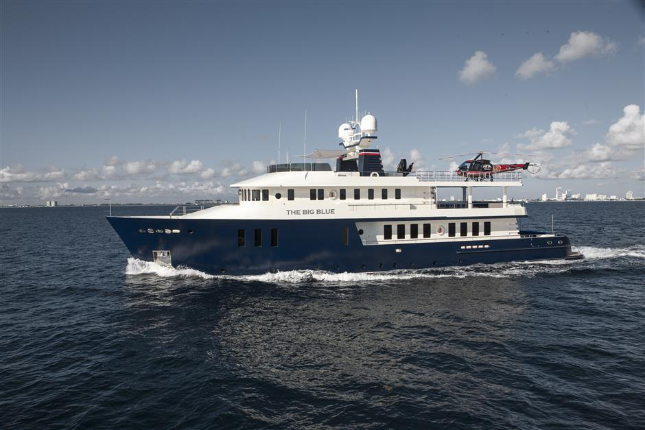 expedition yacht for sale THE BIG BLUE