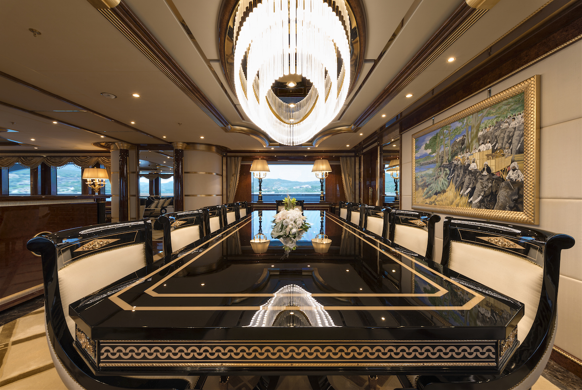 MINE GAMES yacht charter - dining-1