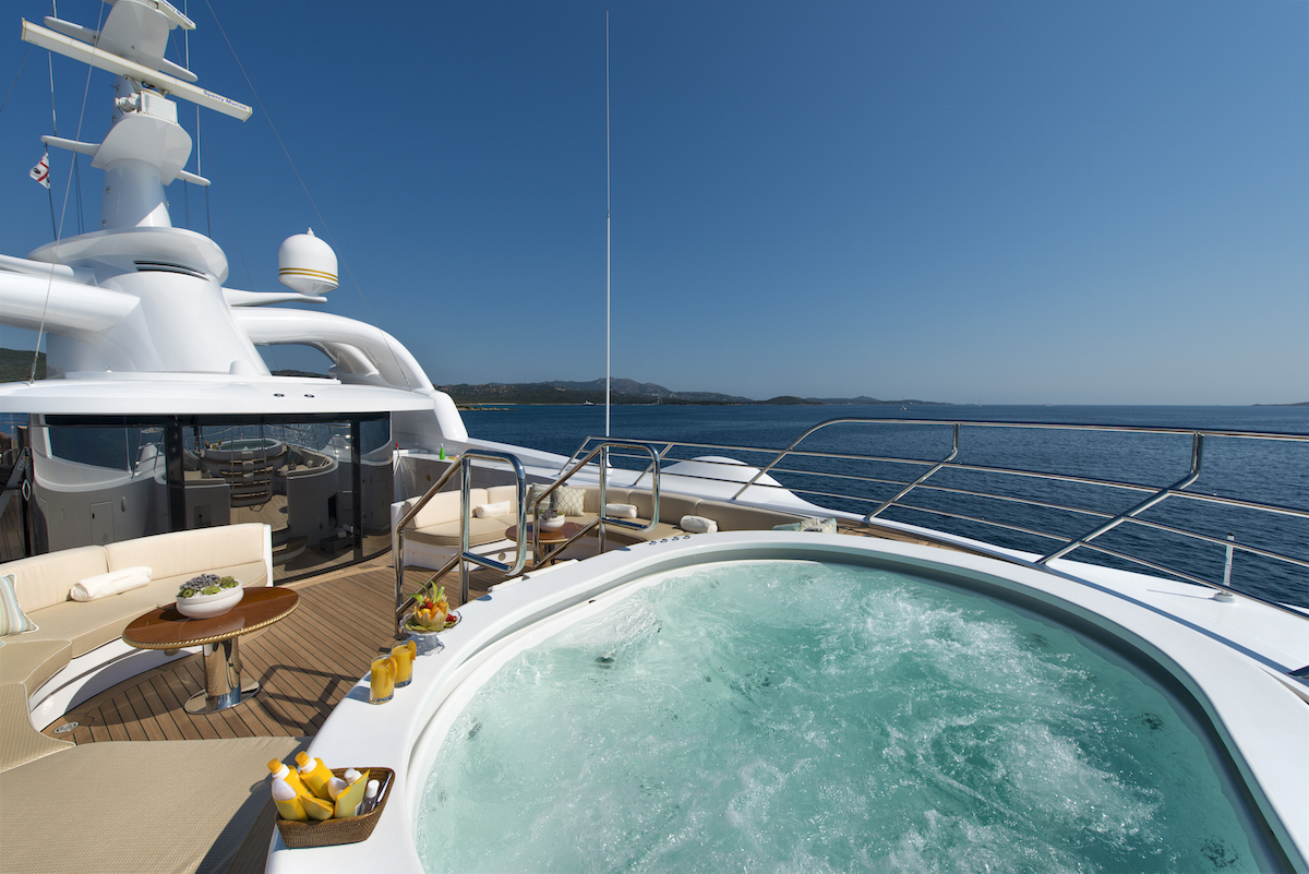 MINE GAMES yacht charter - jacuzzi-1