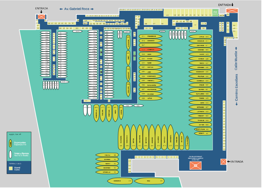 Palma Superyacht Show map 2016