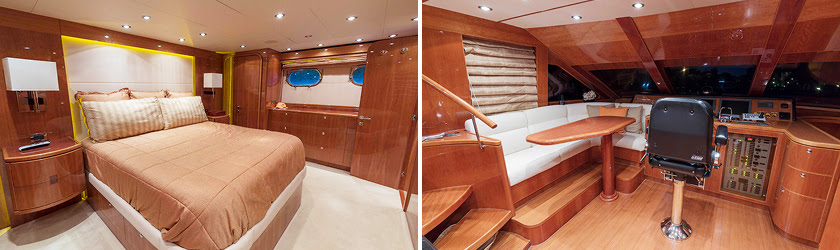 ANA C 76' Hargrave yacht for sale interiors 2
