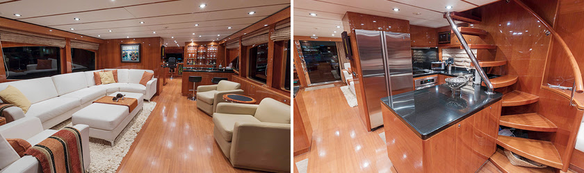 ANA C 76' Hargrave yacht for sale interiors