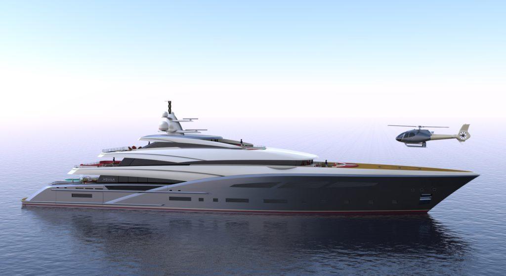New Renderings for 75m Custom Yacht