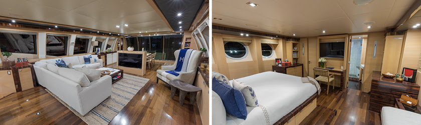 Charter yacht BW 120ft Palmer Johnson - interiors