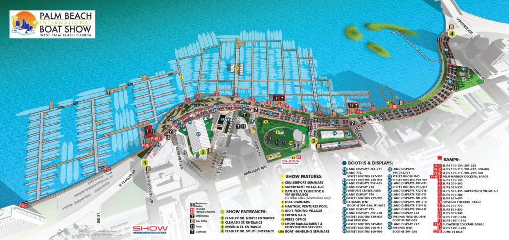 Palm Beach International Boat Show 2017 Official Map