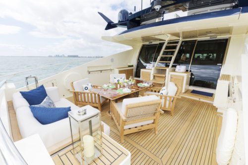 BW yacht for sale and charter aft dining