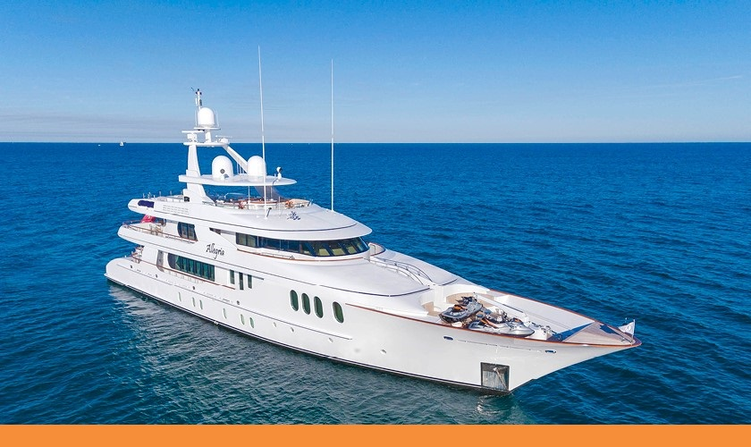 Major $1,000,000 Price Reduction On Mega Yacht ALLEGRIA
