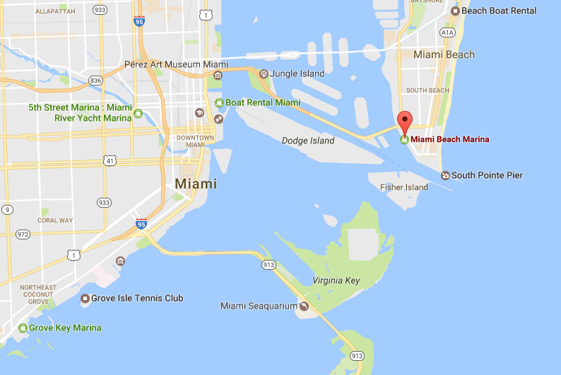 Miami Beach Marina Map