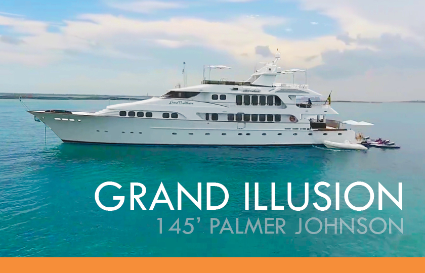 GRAND ILLUSION 145′ Palmer Johnson- AVAILABLE FOR CANNES FILM FESTIVAL!