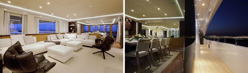 Quaranta yacht for sale interiors