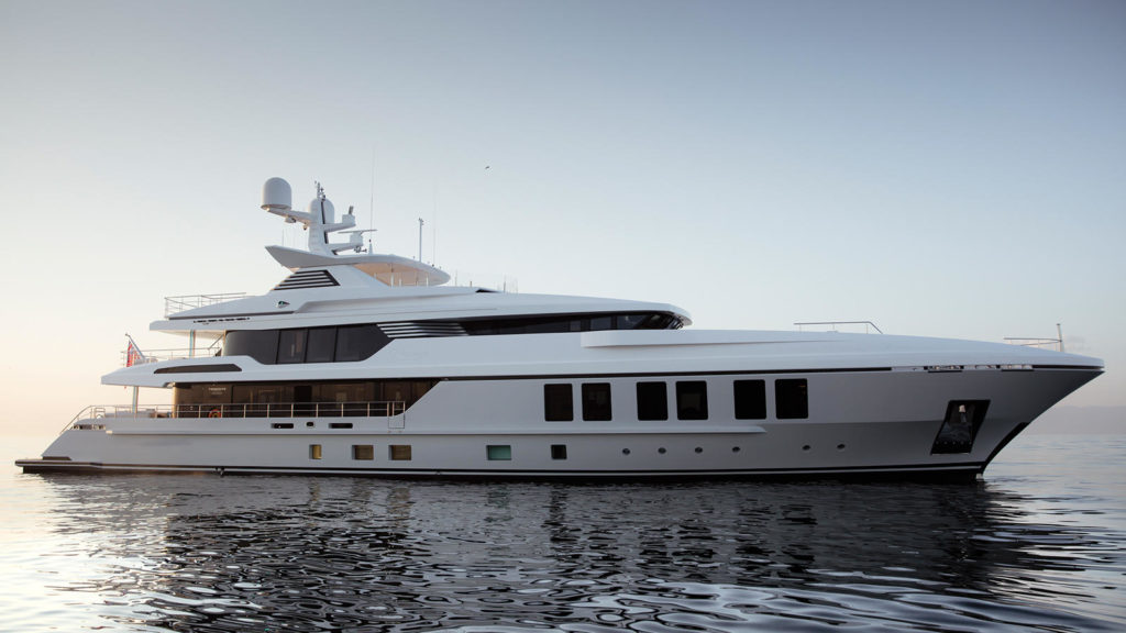 Review of 47m Turquoise Yacht RAZAN at Cannes Yachting Festival