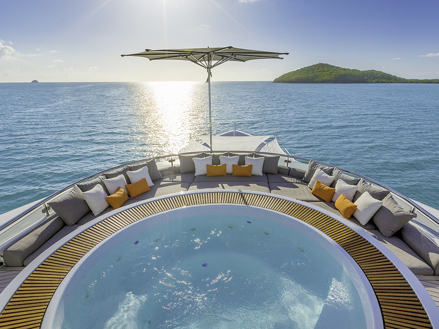 What to Expect on a Superyacht Charter - charter yacht AQUAVITA jacuzzi