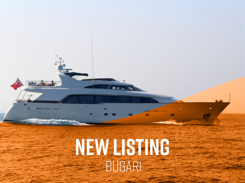 New Central Listing: GREY PRINCESS 90′ Bugari