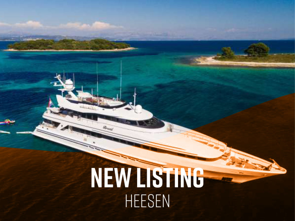 New Central Listing: 40m Heesen BRAZIL | Worth Avenue Yachts