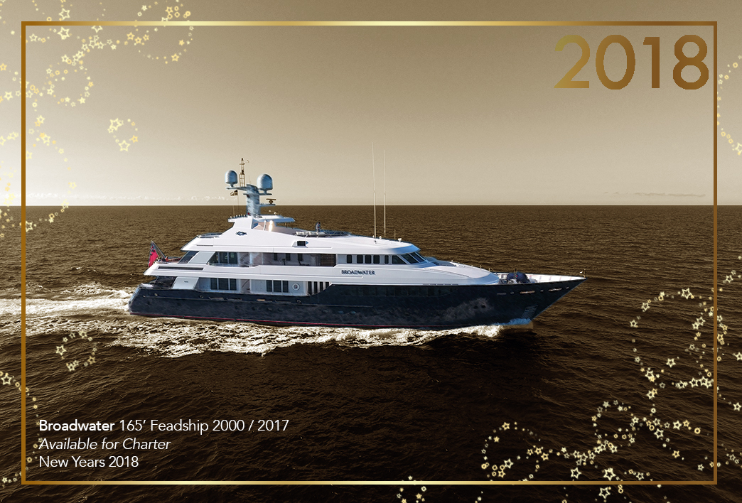 Start The New Year Off Right: Charter Super Yacht BROADWATER