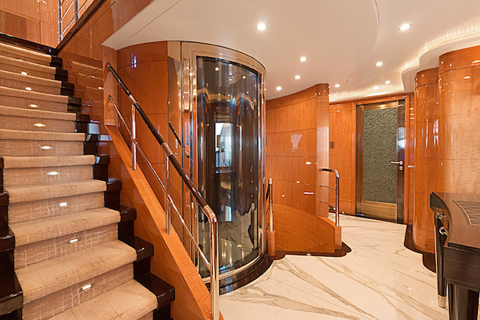 MAG III yacht for sale. The 145ft Benetti built luxury motor yacht with own elevator.