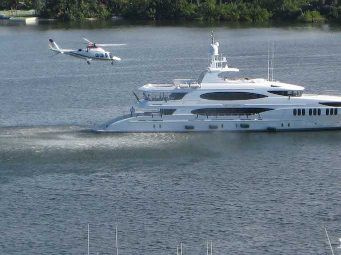Yacht with Helicopter pad for sale