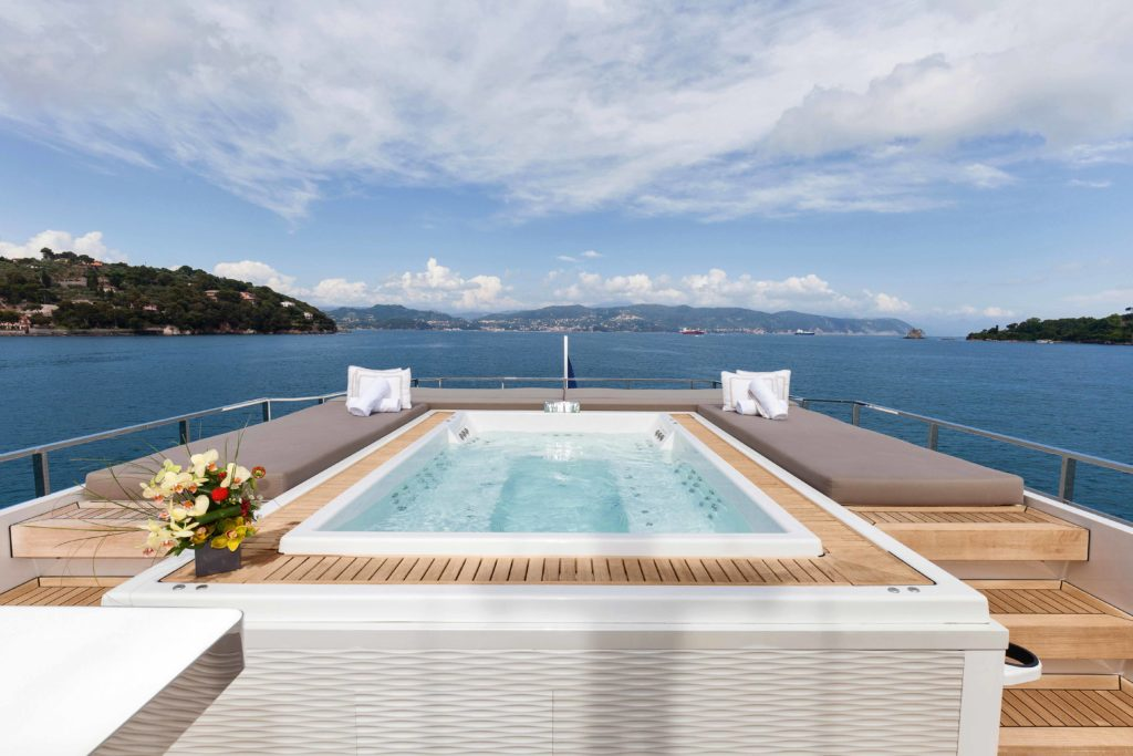 Admiral yachts for sale pool on a deck