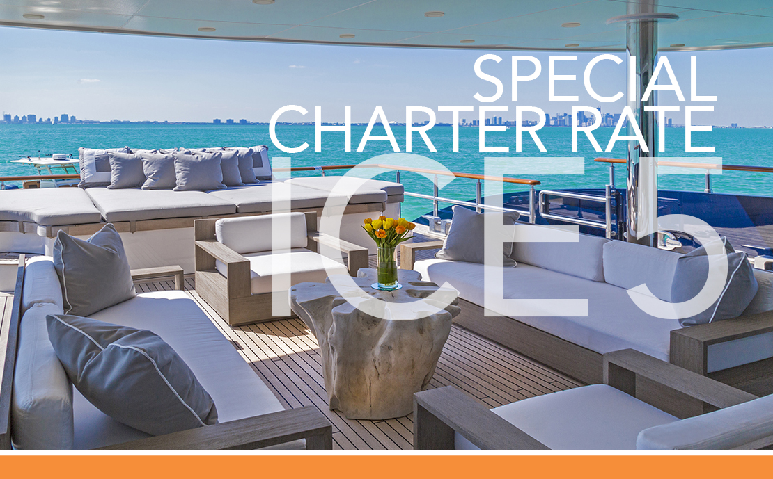 ICE 5 140′ TURQUOISE – SPECIAL CHARTER RATE!