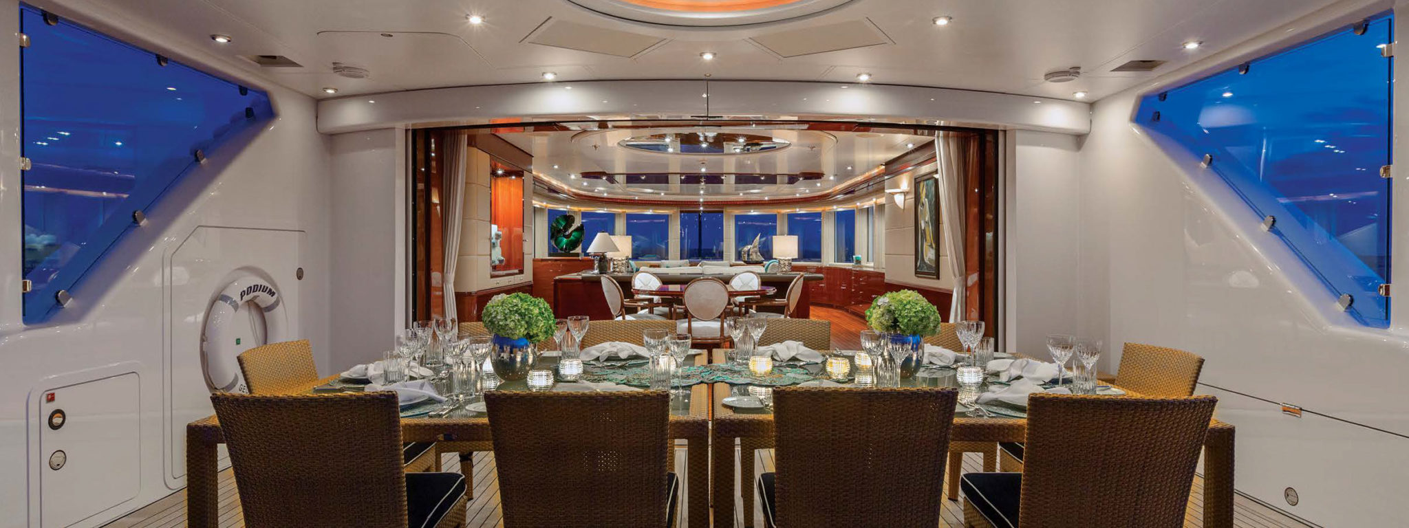 dinner on Lurssen yachts for sale