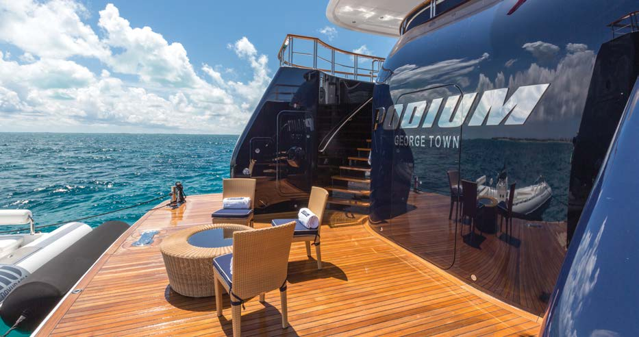 on a deck of Lurssen yachts for sale