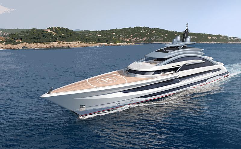 80m Dutch Yacht Heesen COSMOS