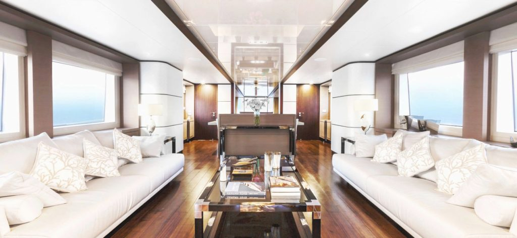 Interior on Alia yachts for sale