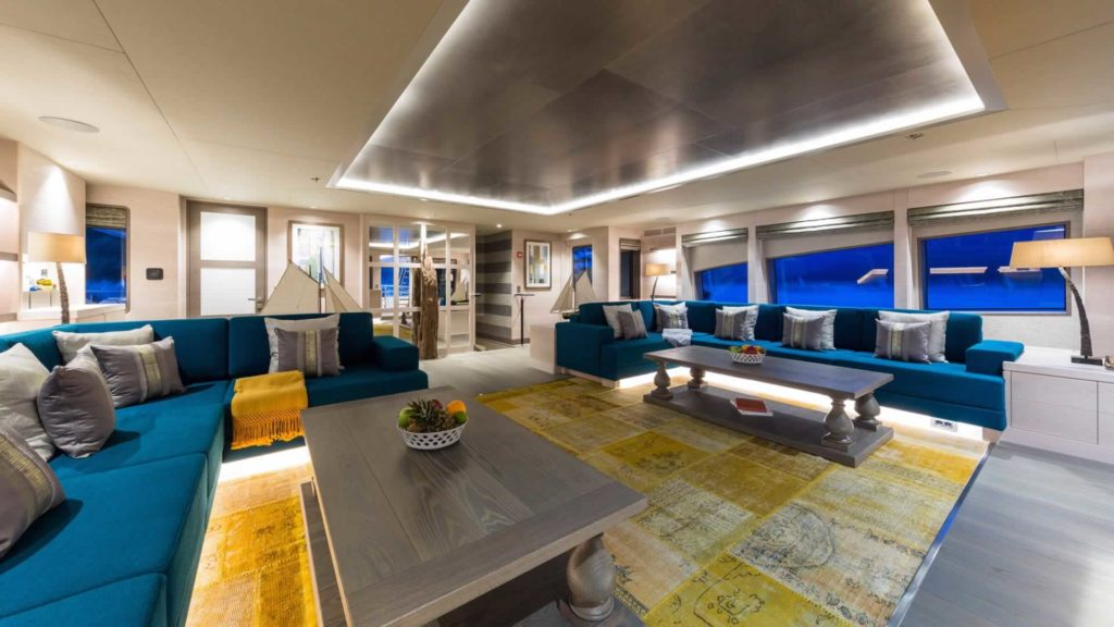 LA PASSION interior design Sarp Yachts for sale