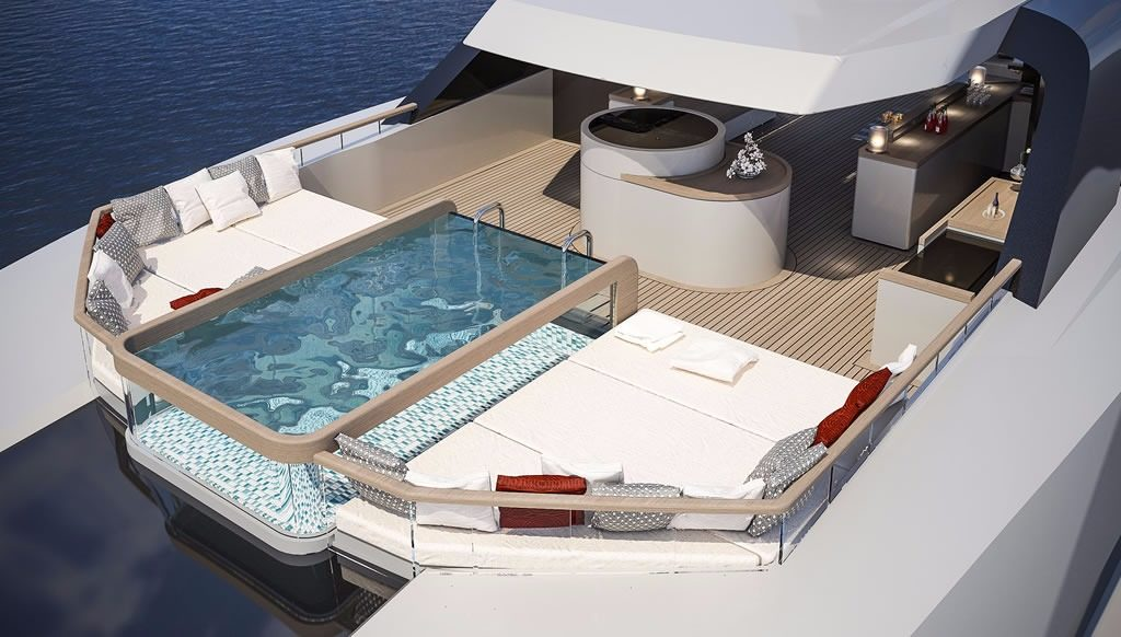 NACRE deck Sarp Yachts for sale