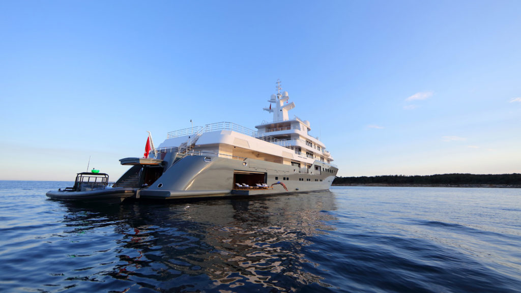 Admiral yachts for sale deck on Planet Nine